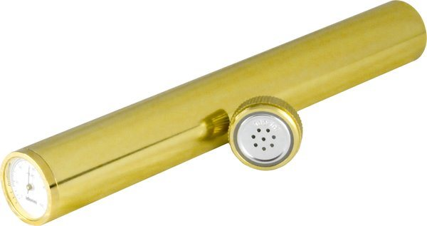 adorini Humidor Tube with Golden Hygrometer