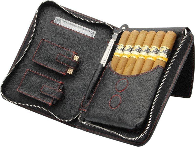 Adorini Cigar Bag Real Leather Red Topstitching 5 Reviews
