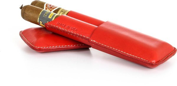Reinhold Kühn Double Cigar Case Smooth Top Red