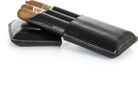 Reinhold Kühn Triple Cigar Case Black