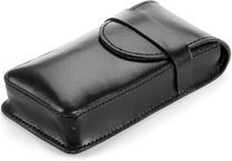 Buffalo Leather Cigar Case for 3 Cigars Black