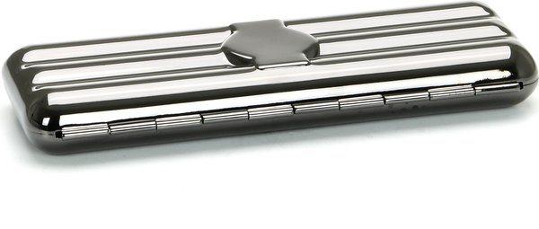 Cigar Case for 3 Coronas Gunmetal Grey