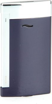 S.T. Dupont Slim 7 Lighter Blue/Chrome