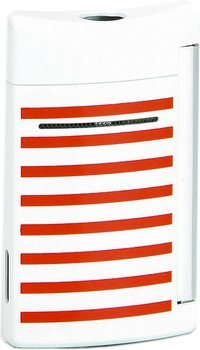 S.T. Dupont Minijet Lighter Stripes Navy/White/Red