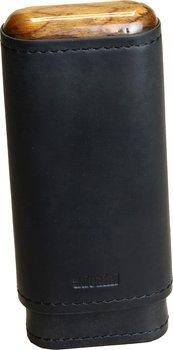 adorini Adaptable Genuine Leather Cigar Case Black 2/3