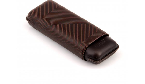 Davidoff Cigar Case XL-2 Brown Leather 'Leaf'