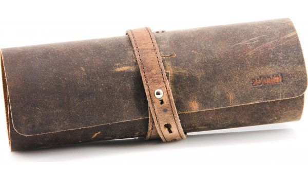 adorini Cigar Roll Real Leather Brown