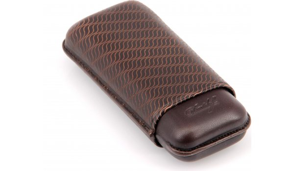 Davidoff cigar case leather R-2 brown 3