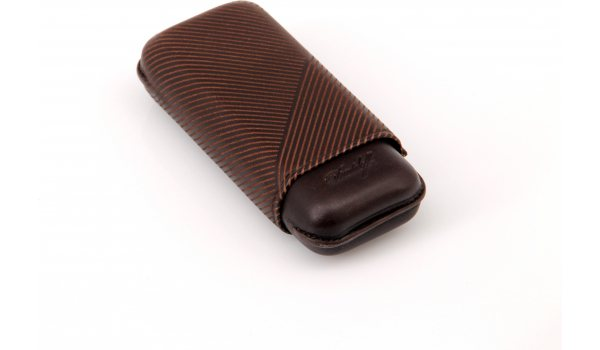 Davidoff cigar case leather R-2 brown 1