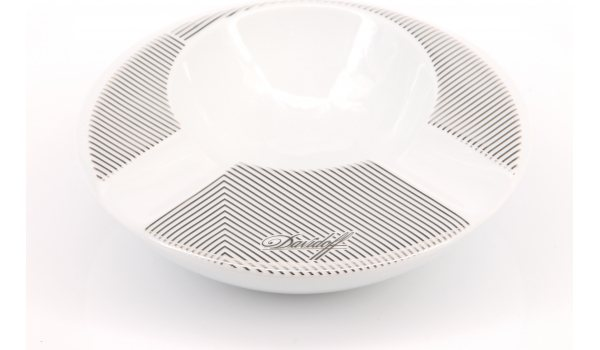 Davidoff ashtray porcelain round 2 cigars ADF