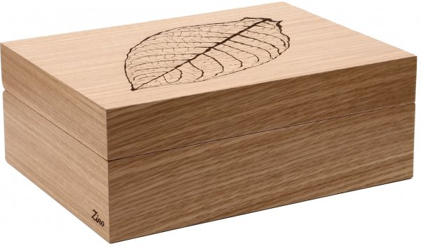 Zino Humidor Leaf Natural Oak Brown
