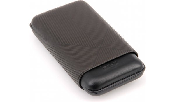 Davidoff cigar case XL-3 leather black leaf