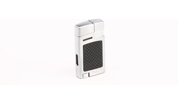 Xikar Forte Lighter Silver Carbon Fiber