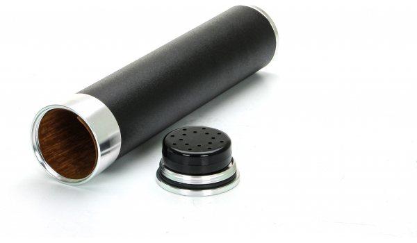 Travel Humidor 3 Cigars Black/Gold
