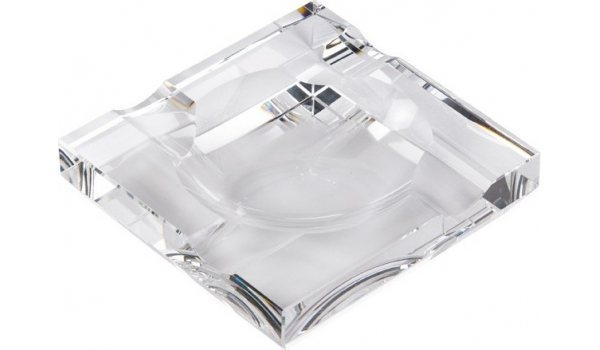 Square glass ashtray