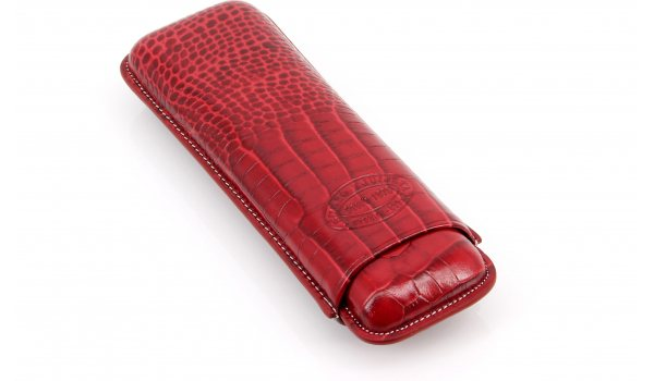 Romeo y Julieta cigar case leather 2 cigars Red