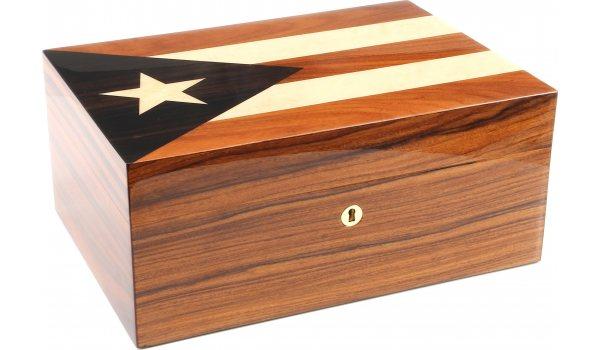 Gentili Humidor Cuban Flag Inlay 30 Cigars