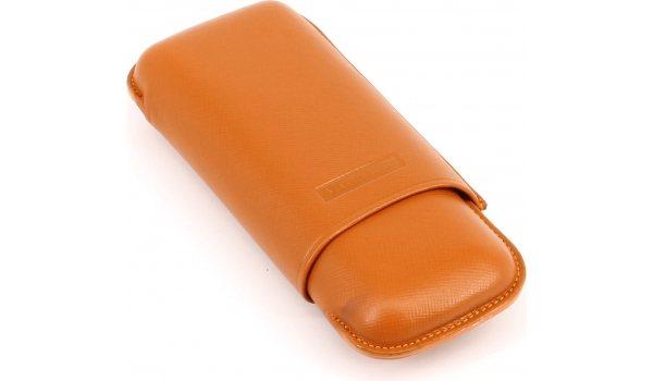 Martin Wess Cigar Case Double Robusto Orange