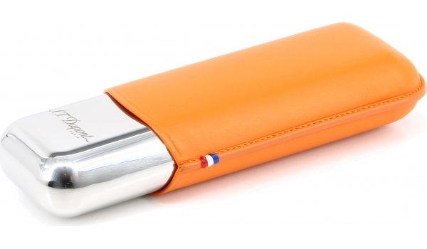 S.T. Dupont Metal Double Cigar Case Orange