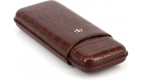 Montecristo Leather Case Brown Croco look