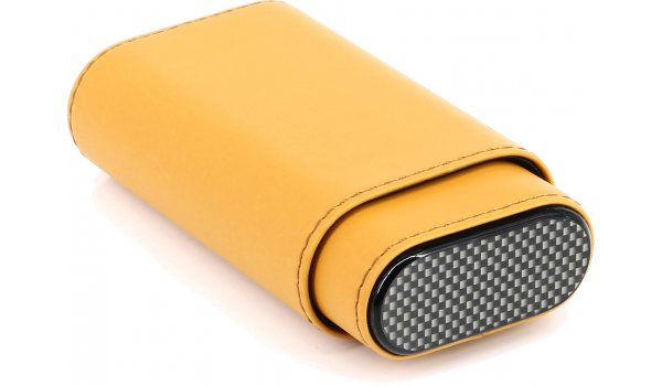 Cigar Leather Case Yellow / Carbon