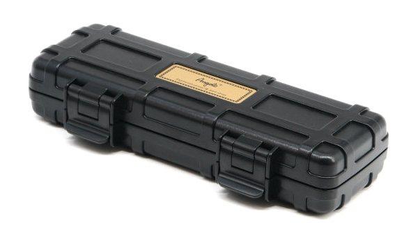 Angelo Double Cigar Case Black