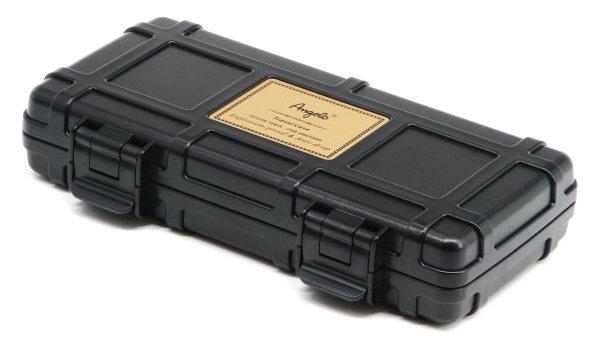 Angelo Triple Cigar Case Black