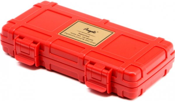 Angelo Triple Cigar Case Red