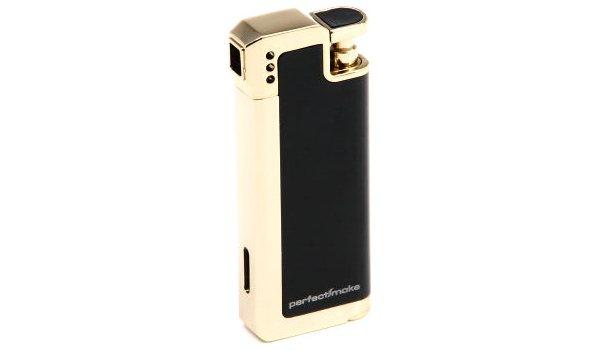 perfectSmoke Pfeifenfeuerzeug schwarz/gold
