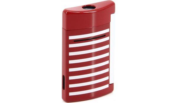 S.T. Dupont MiniJet Lighter 10107 Red / White Stripes