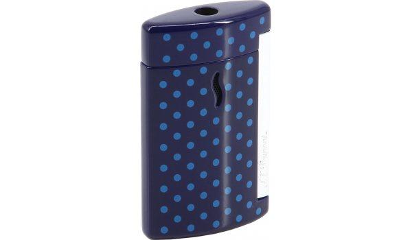 S.T. Dupont Minijet Lighter purple wih blue dots