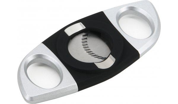 Passatore Cigar Cutter Rubber Black Silver