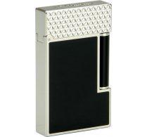 S.T. Dupont Ligne 2 Lighter 16746 Black Lacquer / Pointe de Feu Palladium Top