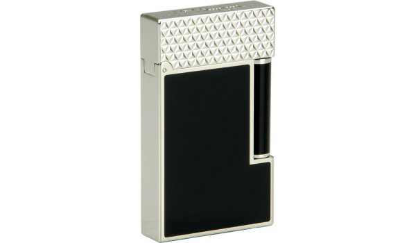 S.T. Dupont Ligne 2 Lighter 16746 Black Lacquer / Pointe de Feu Palladium Top