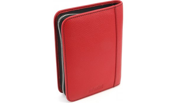 adorini Cigar Bag Genuine Leather Red
