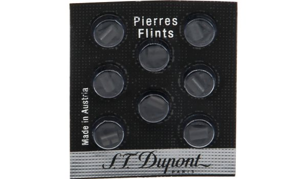 S.T. Dupont Flints 8 Pieces Black