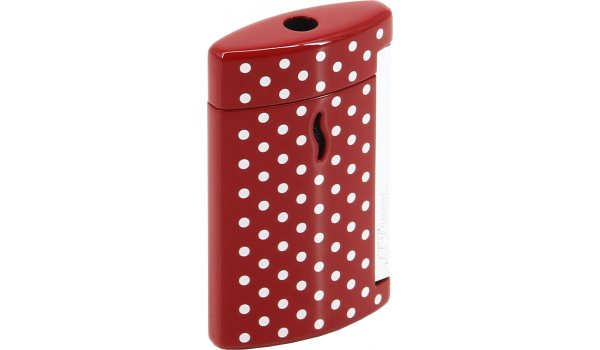 S.T. Dupont Minijet Lighter Red White Dots