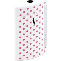 S.T. Dupont Minijet Lighter White Pink Dots
