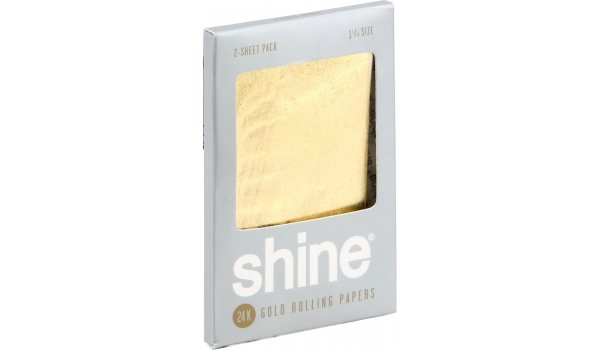 Shine 24K Gold Rolling Papers 2 pieces