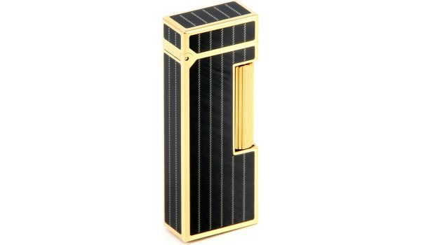 Dunhill Rollagas Charcoal Pinstripe Black Gold