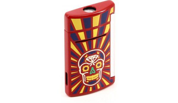 S.T. Dupont Miniet Lighter Dia De Los Muertos Red