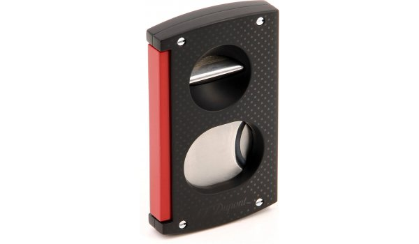 S.T. Dupont Cigar Cutter V Cut Black & Red