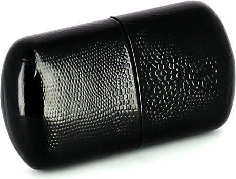 John Aylesbury Cigar Case for 3 Half Coronas Black
