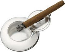 Sillems pocket ashtray silverplated