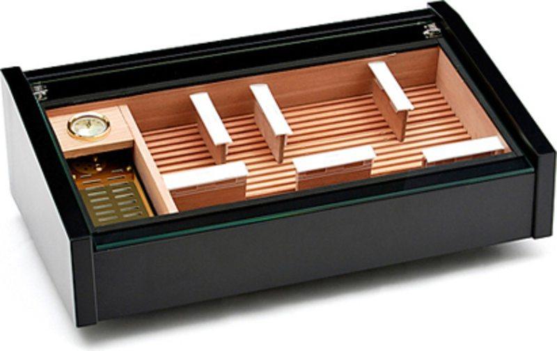 Adorini Vega (black) - Deluxe display humidor | Free UK shipping ...