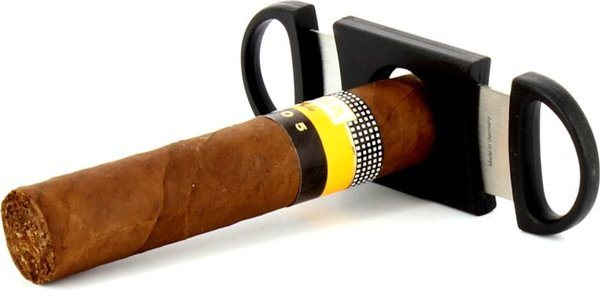 Zino Double Blade Cigar Cutter Black photo 8
