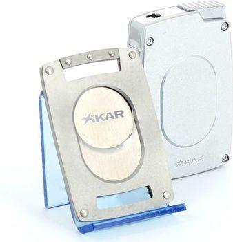 Xikar Ultra Combination Cigar Cutter/Lighter Set Silver