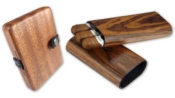 Wooden Cigar Cases